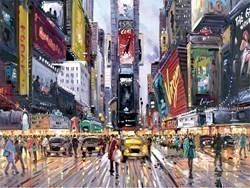 Times Square Tour by Henderson Cisz - Limited Edition on Paper sized 12x9 inches. Available from Whitewall Galleries